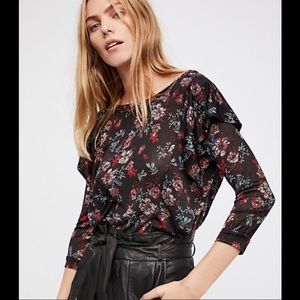 FREE PEOPLE Dock Street Floral Blouse NWT